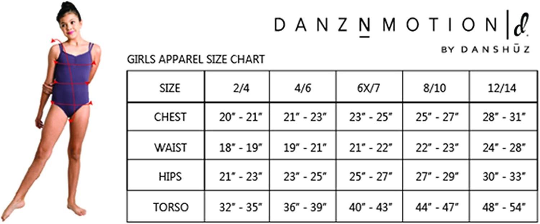 2465c DanzNmotion by Danshuz Girls Plush Cutaway Halter Leotard