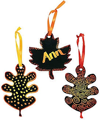 Amazon.com: Magic Color Scratch Fall Leaves (2 Dz): Toys & Games