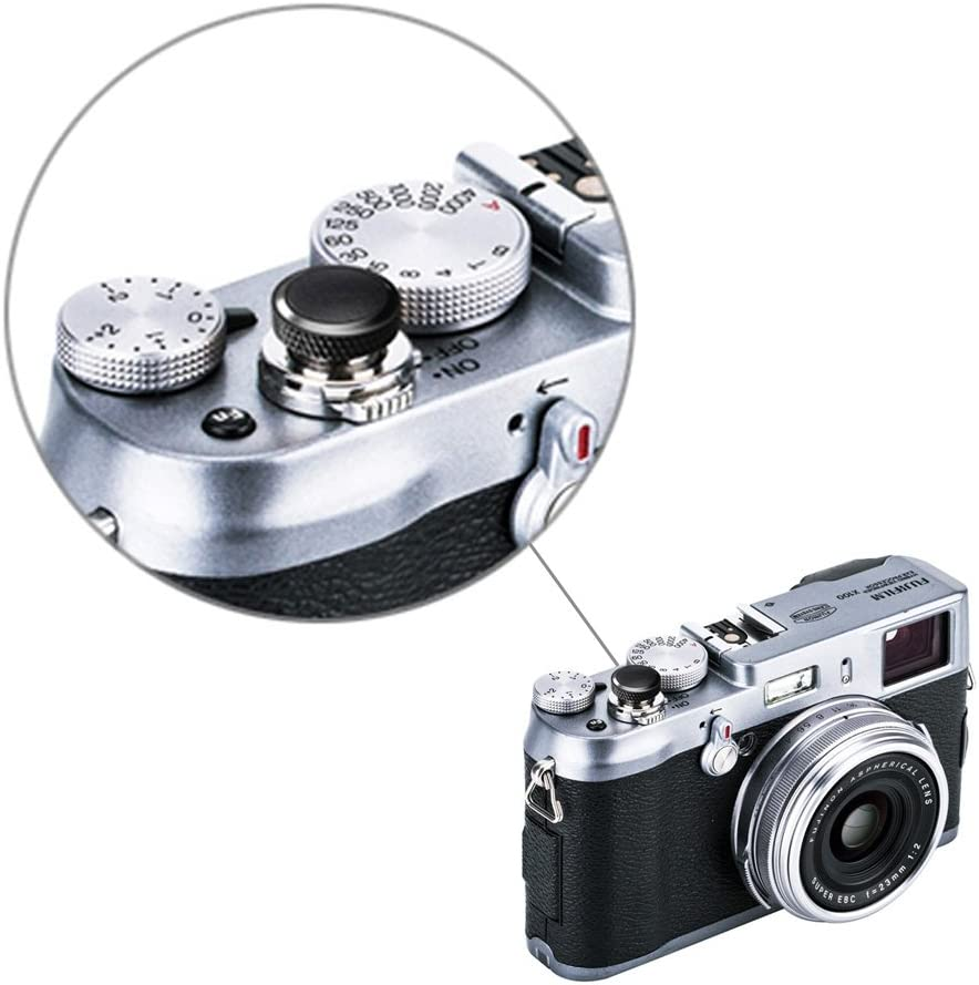 JJC Ausl/öseknopf Soft Release Button f/ür Fujifilm Fuji X-T30 X-T20 X-T10 X-T3 X-T2 X-PRO2 X-PRO1 X100 X100F X100T X-E2S X-E3 Sony RX1 RX1 R RX1R II RX10 II III IV Lecia M9 M8 M7 Nikon Df F3