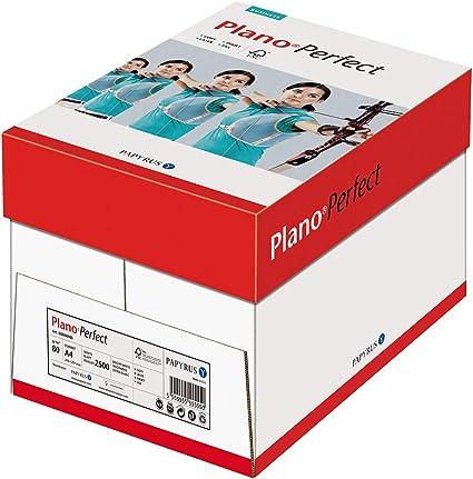 Papyrus 88085173 de impresoras/ – Papel Plan Ópera Fect, 80 g/m2, DIN A4, 2.500 hojas/5 resmas=1 Pack, color blanco, mate, sin celulosa: Amazon.es: Oficina y papelería
