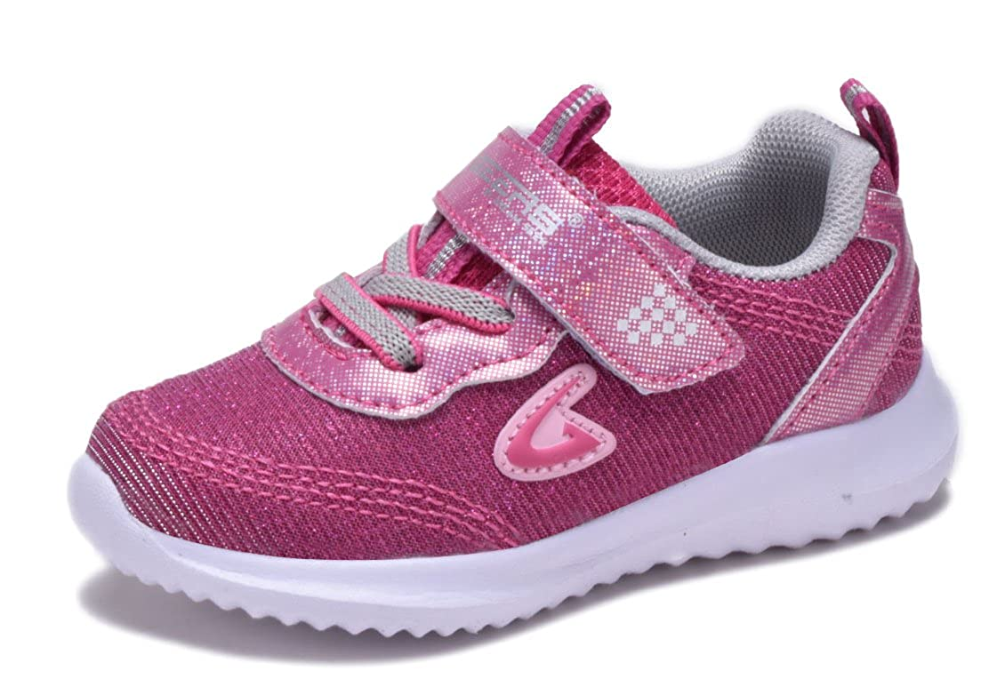 Dream Seek New Toddler Girls Glitter Fashion Sneakers Tennis Shoes Strap Sequin