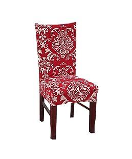 PROKTH stuhlhussen Stretch hussen elástico - Cobertor para silla revestimiento BI elástico Decoración Funda Tensor, muy fácil de limpiar y duradero universal