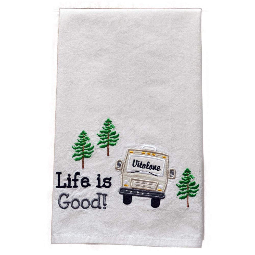 Custom Dish Towel, Camping Gift, RV Decor, Camping Dish Towel, Glamping, RV Accessories, Flour Sack Towel, RV Gift, Camper Decor, Top Quality, Choice of RV Color, (Option to add name in window) by Embroidery Hut (Image #3)