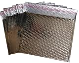 20 Pack Metallic Bubble mailers 7 x 6.75. Silver padded envelopes 7 x 6 3/4. Glamour bubble mailers Peel & Self Sealing cushion packaging mailers. Poly mailing packing wrapping shipping envelopes.