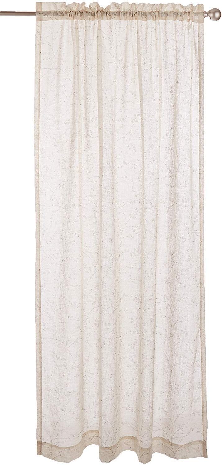 "LORRAINE HOME FASHIONS, Ivory, Willow Window Curtain Panel, 54"" x 63"""