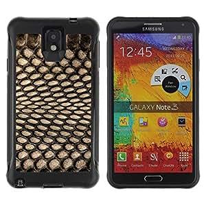 Suave TPU Caso Carcasa de Caucho Funda para Samsung Note 3 / Pattern Textile Black Net Spots / STRONG