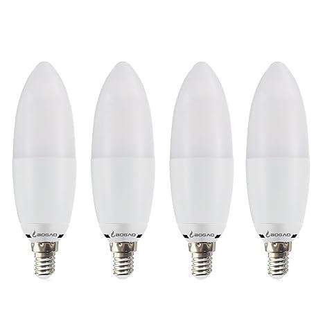 BOGAO 12W E14 LED Candelabra Bombilla, Equivalente a 85- 100 W, lámparas de