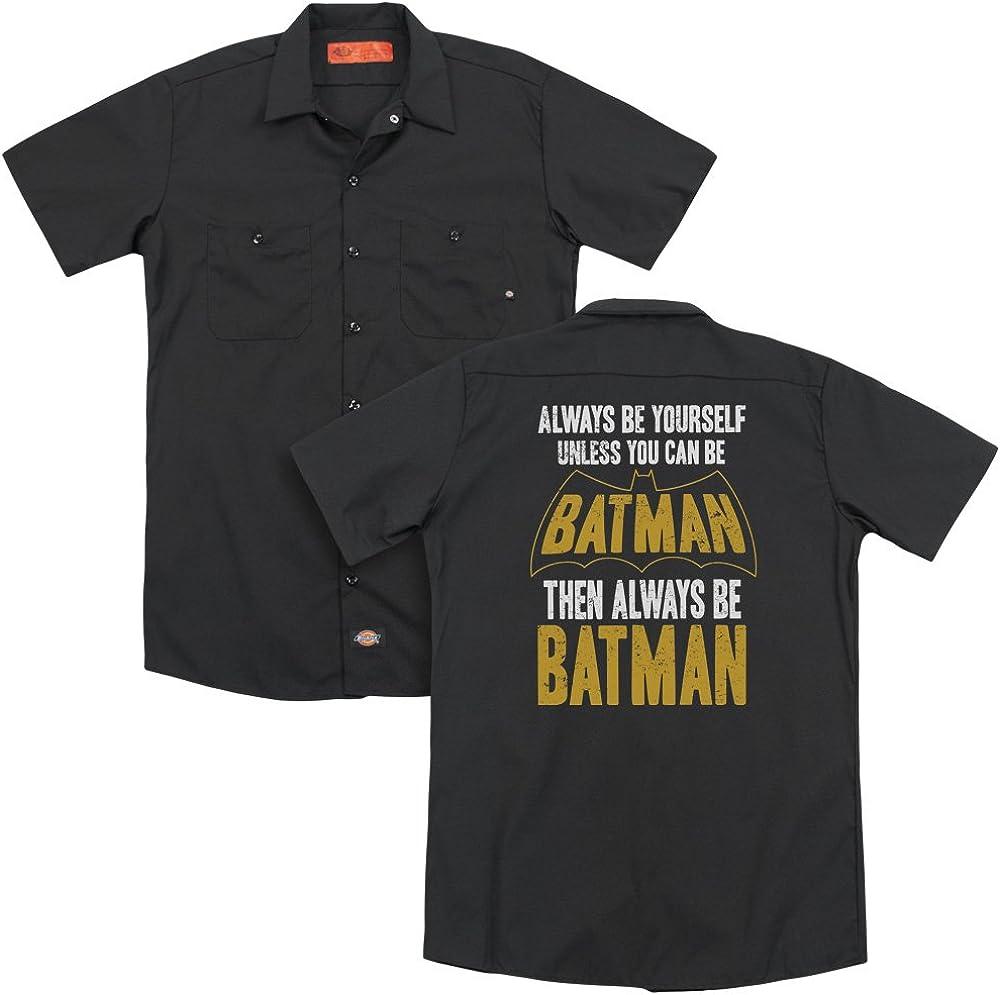 Trevco BM2549BK-WRK-3 Batman Be BatmanBack Print-Adult Work Shirt44; Black Large