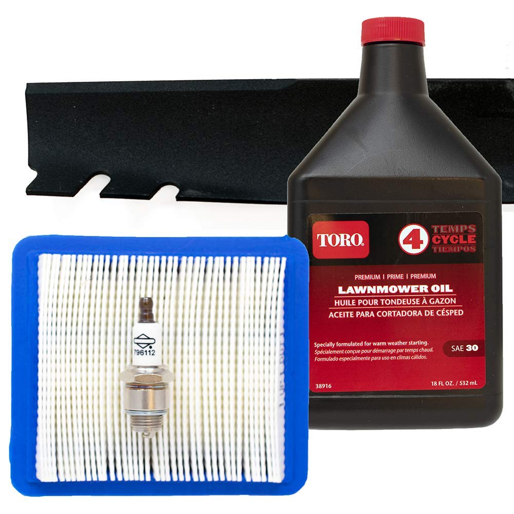 Toro Recycler Blade 131-4547-03 with Briggs & Stratton Engine Tune-Up Kit by Toro