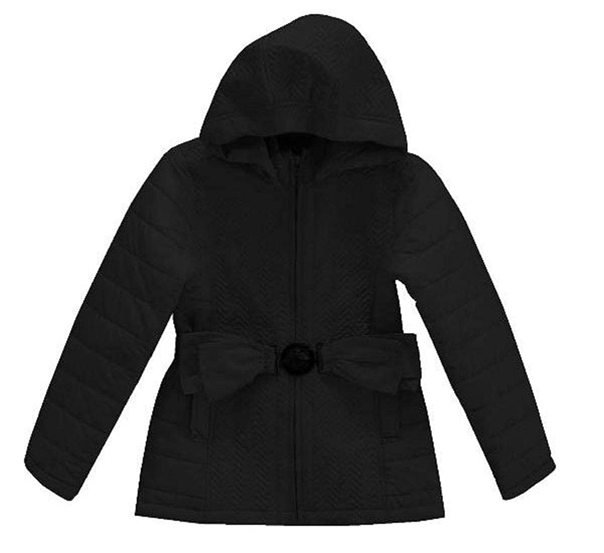 Vittorio Girls Quilted Jacket with Bow Belt
