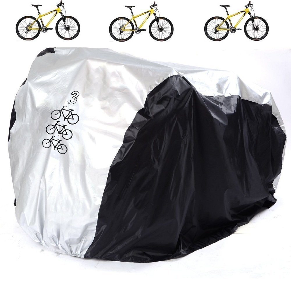 Bicycle Cover, RilexAwhile Waterproof Bike Protector Dustproof and Sunscreen with Lock Hole for Mountain Bike,Road Bikes and Electric Bike