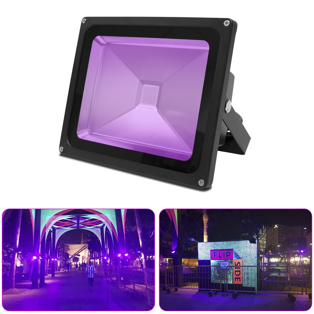 Signstek 30W UV LED Black Light, Ultraviolet Flood Light, IP65 Waterproof, for Black Light Party Supplies, Neon Glow, Glow in The Dark, Fishing, Aquarium, DJ Disco, Night Clubs, Curing