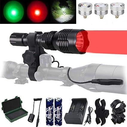 Zoom Predator Light 500 Yards Red Light Night Predator Hunting Flashlight Torch