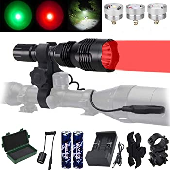 VASTFIRE Predator Light with Interchangeable LED Hunting Flashlight
