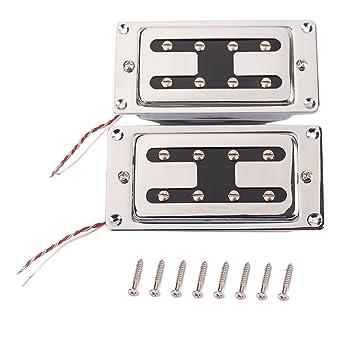 monkeyjack pastillas plata ajustable pole piezas w/tornillo para LP Guitarra partes: Amazon.es: Instrumentos musicales