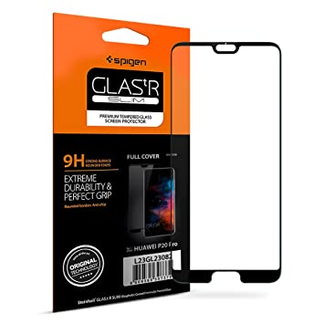 wholesale dealer 465c9 08e6f Spigen, Huawei P20 Pro Screen Protector, HD Full Coverage, Edge to Edge  Protection, Case-Friendly, Huawei P20 Pro Tempered Glass, Huawei P20 Pro  Glass ...