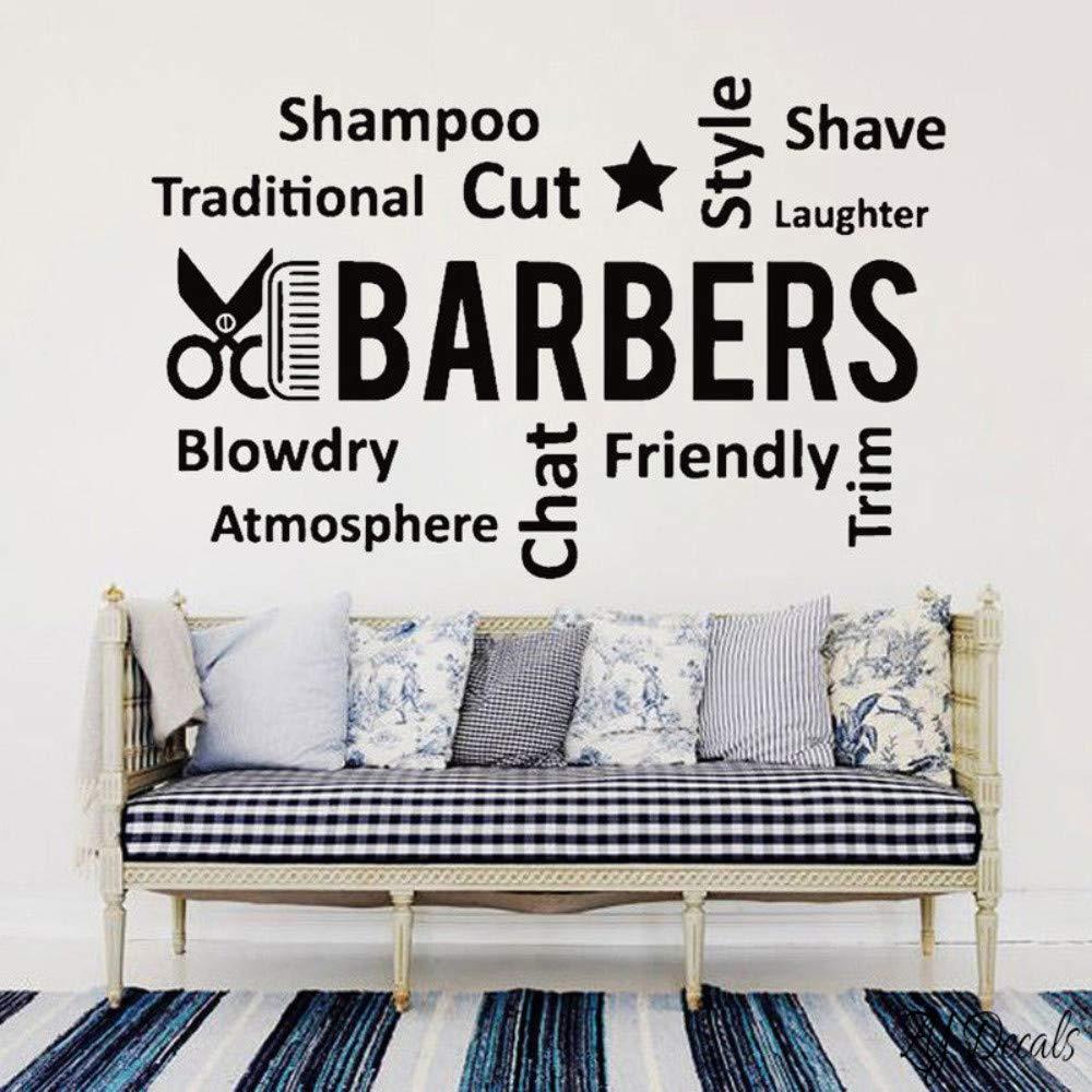Peluquería vinilo etiqueta de la pared peluquería cita ...
