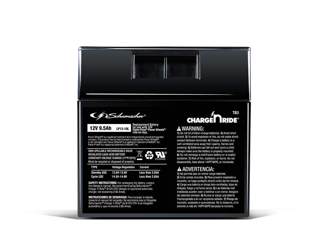 Amazon.com: Schumacher TB3 9.5Ah 12V Rechargeable ...