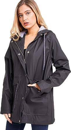 Ladies//Womens Lightweight Printed Waterproof Packable Festival Jacket