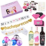 Complete Bachelorette Party Decorations Kit (120-Pieces) | Save Time & Money! | Best Bridal Shower Supplies |Bride to be Sash, Balloons, Wine Labels, Banners, Tattoos, Photo Booth Props