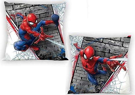 Funda de cojín Spiderman Marvel 40 x 40 100% algodón: Amazon ...