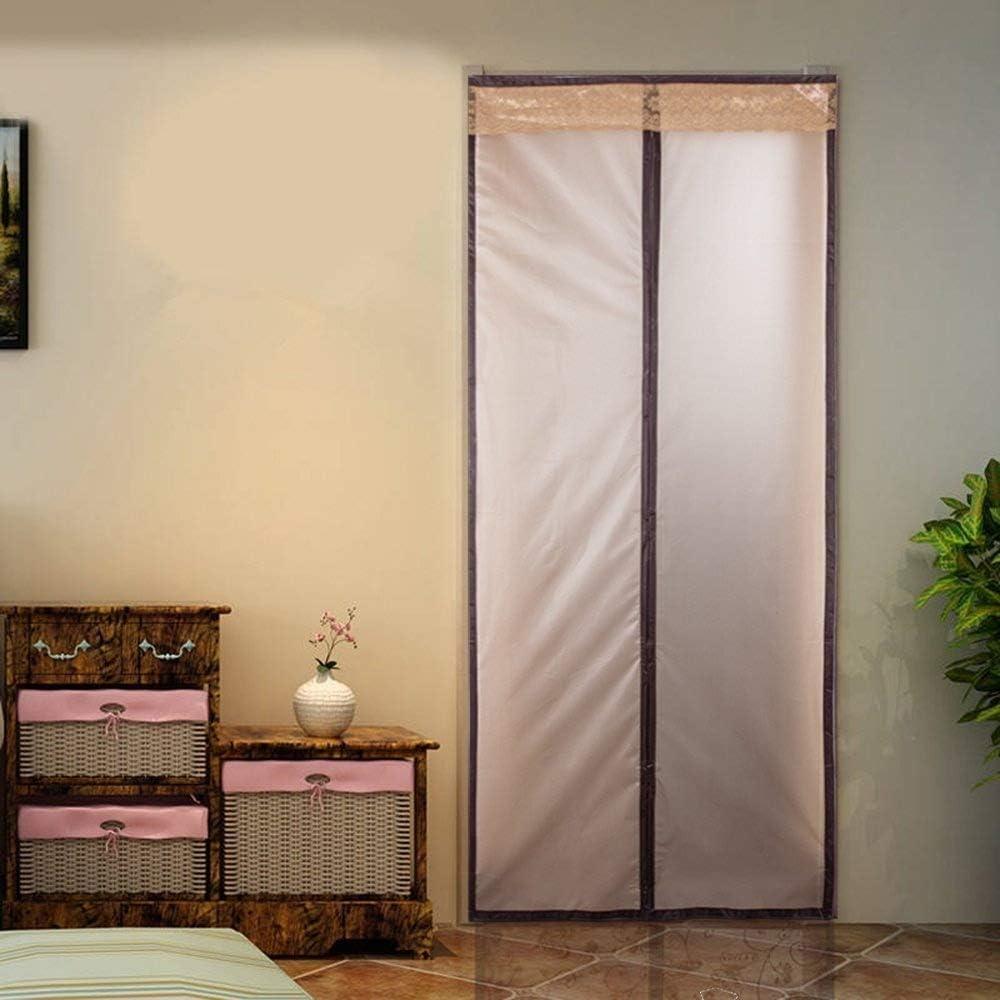 Protector de cortina Surpass cortina protectora magnética con aislante térmico para puerta, disfruta de la frescura del verano y de un cálido invierno con esta cortina con cierre automático para puerta, compatible