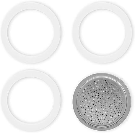 Bialetti - Junta y placa para moke y cafetera, 6 tazas, aluminio ...