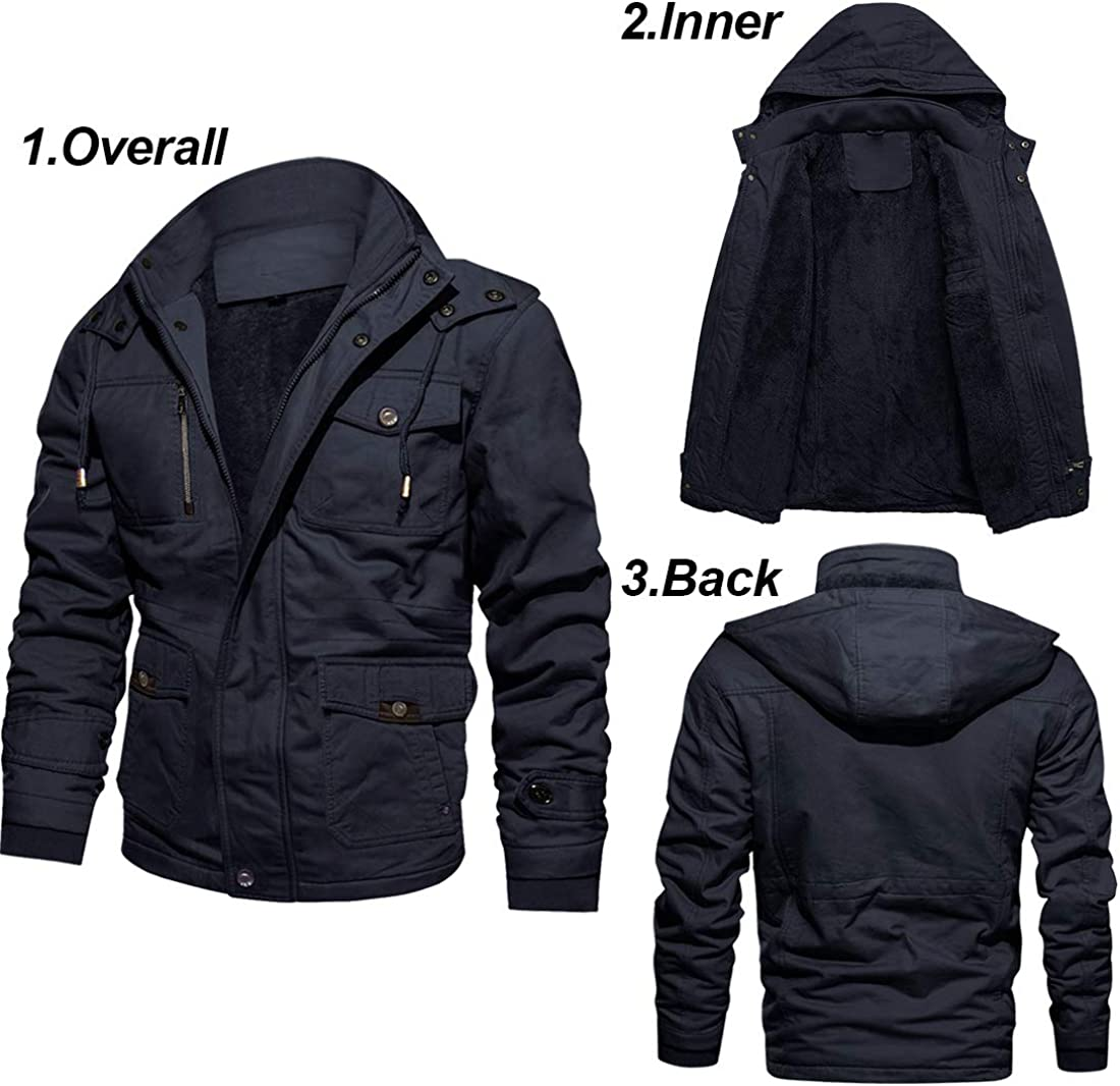 Fleece Sports & Outdoors KEFITEVD Mens Outdoor Jackets