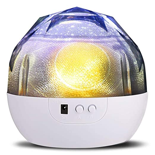 Proyectores Luz de Noche para Niños Estrella Bluetooth Giratorio ...
