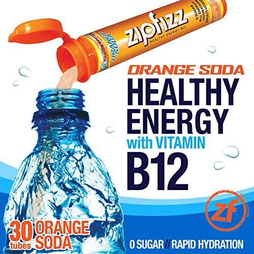 Zipfizz Orange Soda Healthy Energy Drink Mix - Transform Your Water Into a Healthy Energy Drink - 2 Boxes, 30 Tubes Each