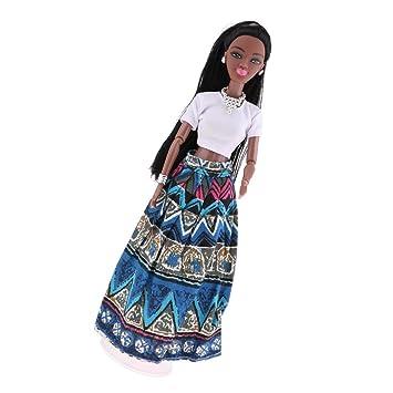 Amazon.es: 31cm Juguete Muñeca Africana Chica Móvil Regalo ...