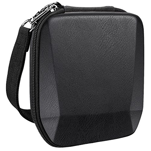 Fintie Carrying Case for Fujifilm Instax SP-3 Mobile Printer - Hard EVA Shockproof Storage Portable Travel Bag with Inner Pocket/Removable Strap - Vintage Black by Fintie