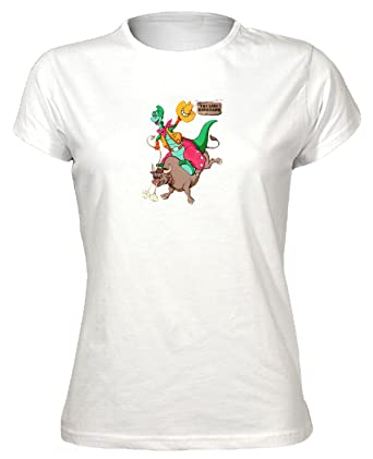 1b57815a54c Denver the Last Dinosaur Cartoon Womens T-Shirt  Amazon.co.uk  Clothing