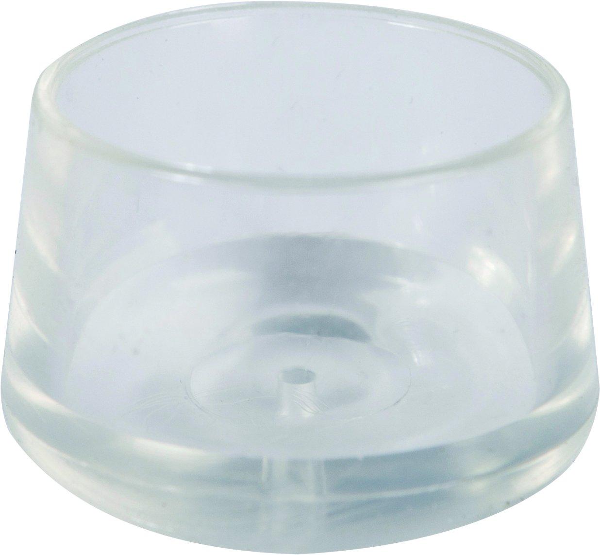 Shepherd Hardware 8612E Leg Tips 1-Inch Inside Diameter Rubber Chair Leg Caps, 24 Pack, Clear