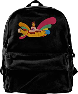 Canvas Backpack The Beatles Yellow Submarine Rucksack Gym Hiking Laptop Shoulder Bag Daypack For Men Women