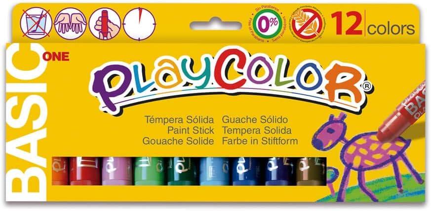 Instant 2610731 - Paquete de 12 temperas sólidas de colores con trazo grueso