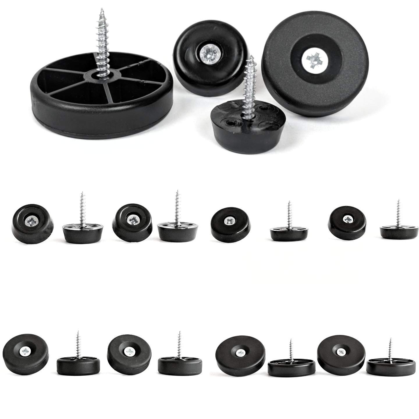 Furniture Gliders. Screw in Sliders Risers Floor Protectors for Ceramic Tile Natural Stone Vinyl Concrete and Similar Floors, Available in 21mm 25mm 30mm or 40mm Diameter Made in Germany… Keay vital parts