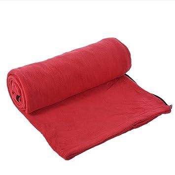 twinkbling microfibra forro polar adulto saco de dormir Liner para viajes al aire libre Camping viaje hoja saco de dormir 180 x 80 cm, hot pink: Amazon.es: ...