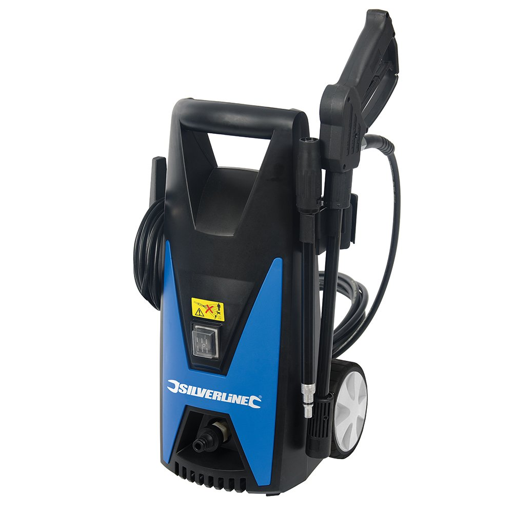 Silverline 102580 Pressure Washer Max 105 Bar, 1650 W