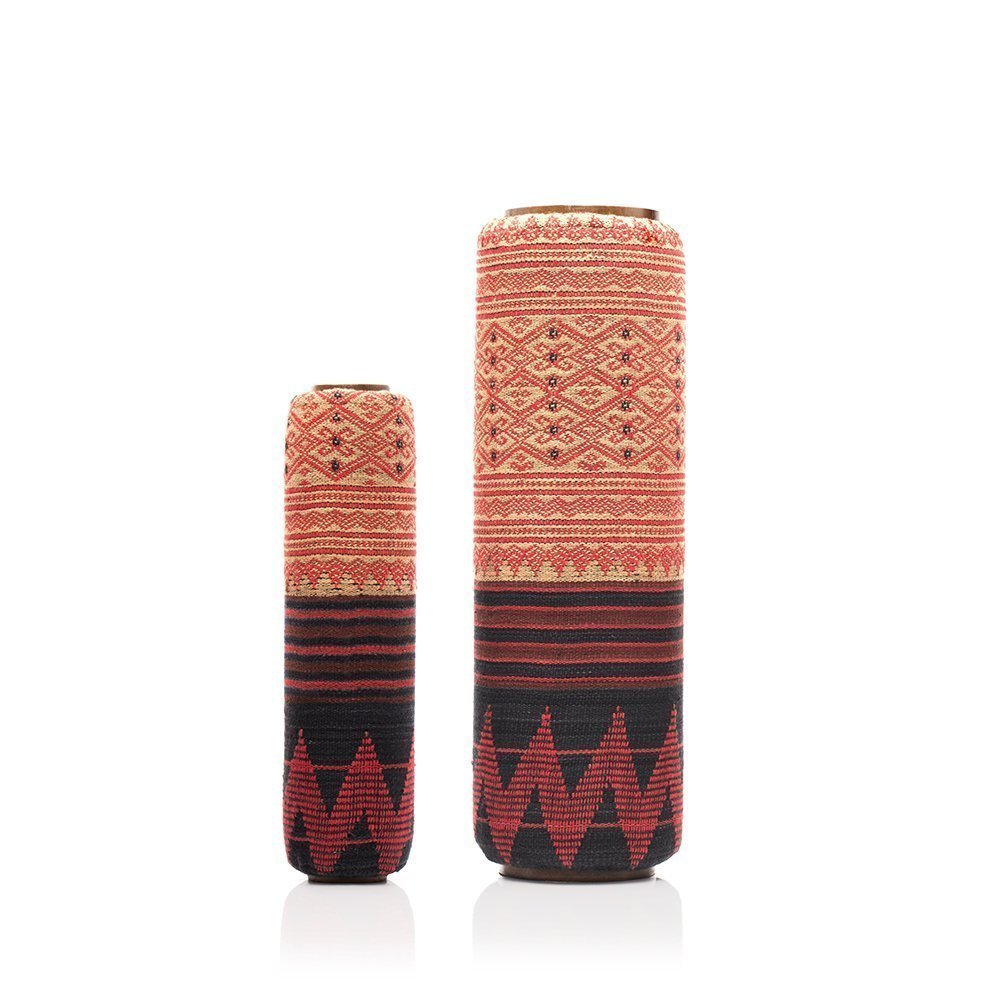 Lanna Roller ''Classic Nesting Set'' with Naga Cover - 2 Piece Natural Massage Foam Roller Set | 5'' Dia + 3'' Dia by Om Roller (Image #1)