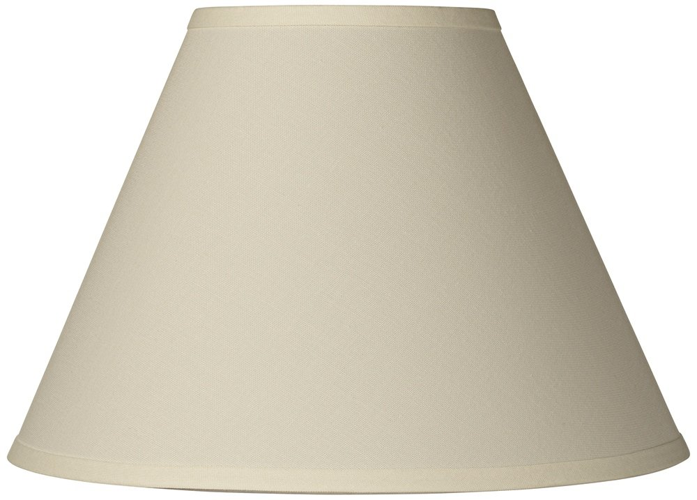 Antique White Linen Empire Lamp Shade 6.5x15x10.75 (Spider)