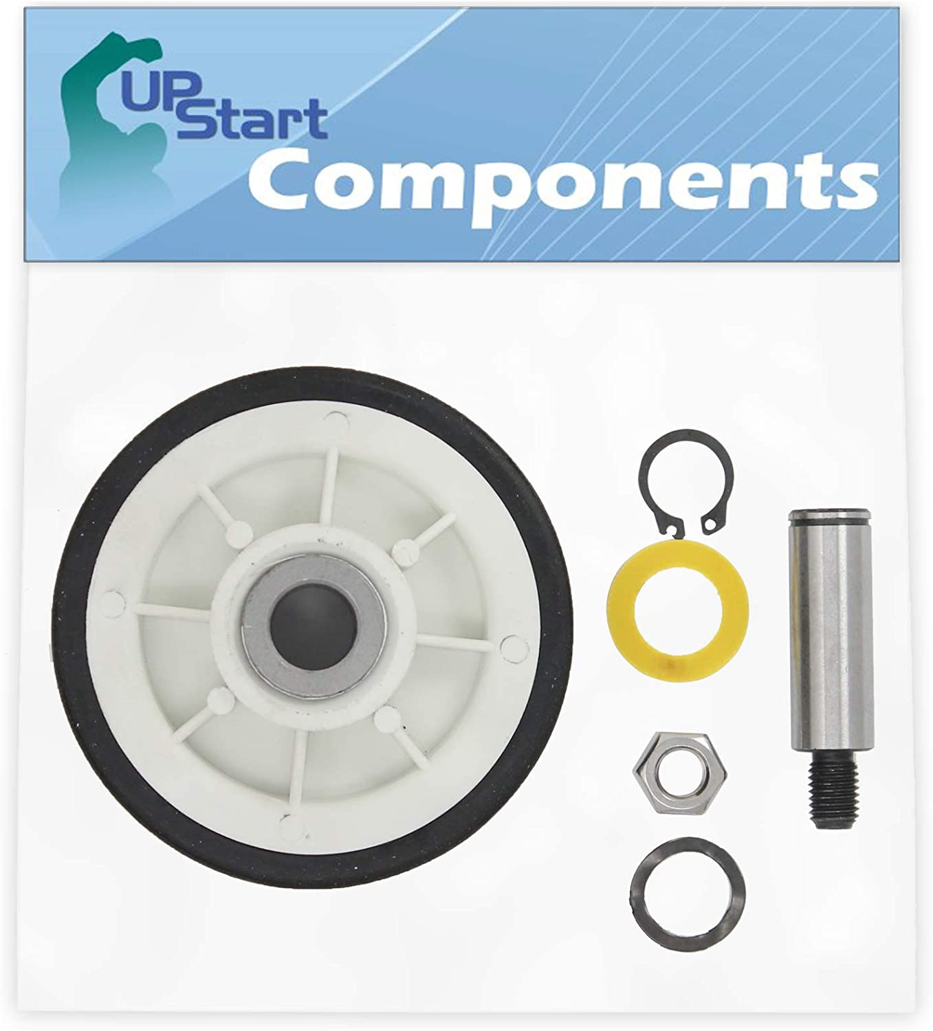 12001541 Drum Support Roller Kit Replacement for Maytag MUG15MNAWW Dryer - Compatible with 303373 Dryer Drum Roller Wheel - UpStart Components Brand