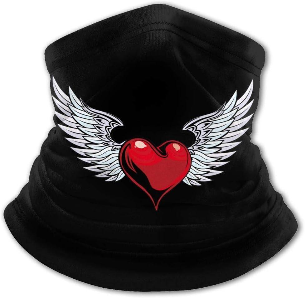 Grafiti - Pasamontañas con diseño de corazón y alas de ángel para niños, protección UV y protección para el cuello, resistente al viento, multifunción, para niños y niñas