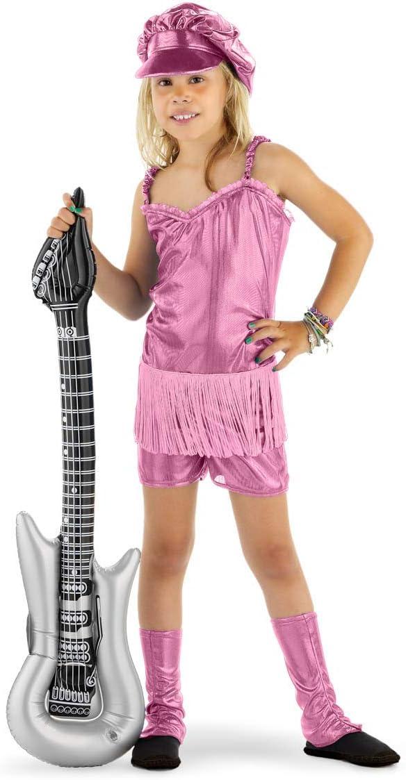 Folat - Disfraz de roquero, 3 Unidades, Color Rosa: Amazon.es ...