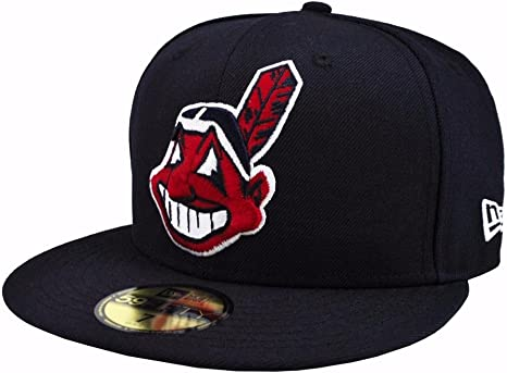 New Era Cleveland Indians Adjustable 9Fifty MLB Flat Bill Baseball Cap 950