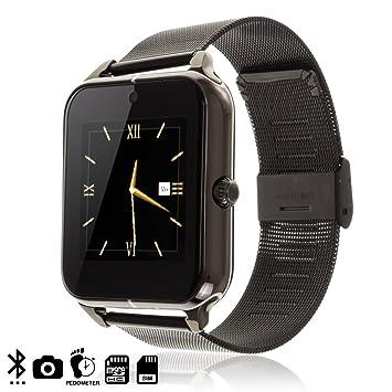 DAM DMT180 - Smartwatch Z50 con Correa metálica y de Piel, Color ...