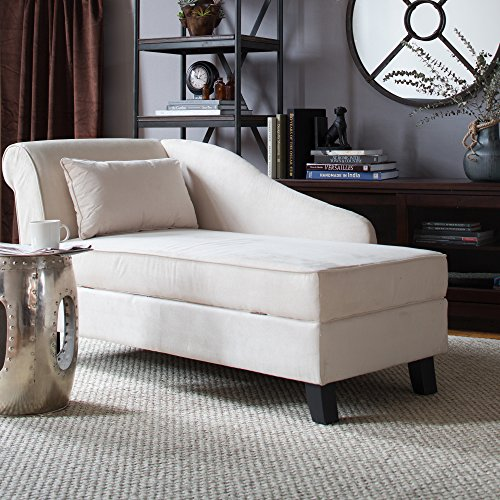 Castleton Home Storage Chaise Lounge Modern Long Chair Couch Sofa Furniture  For Foyer Hall Lobby Entry