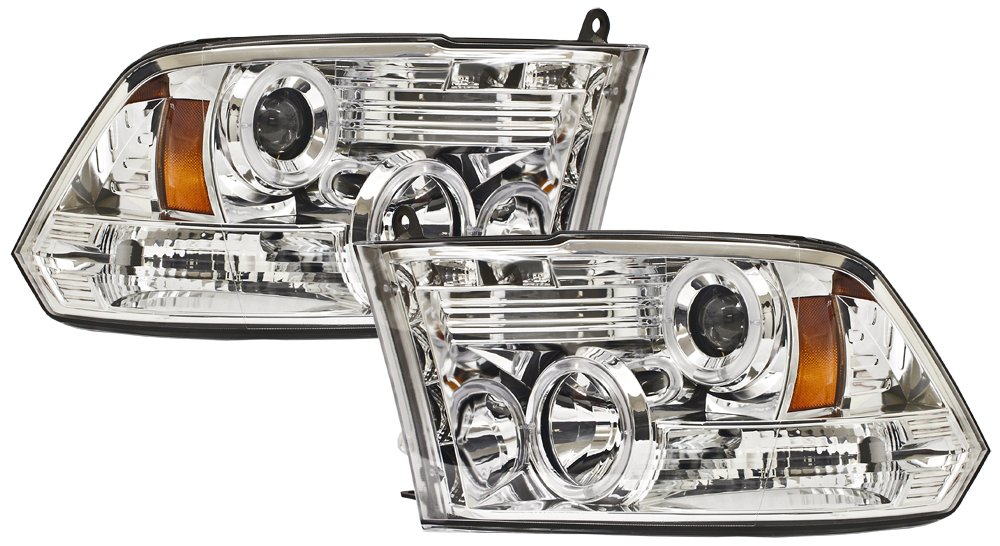 Pair IPCW CWS-423C2 RAM Pickup 1500 Chrome Projector Head Lamp