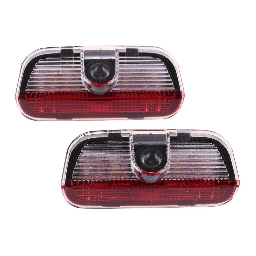 2pcs LED Symbol Welcome Light Door Logo Projector Lamp for Volkswagen, Ground Ghost Shadow Lights Door Warning Light for VW Passat B6 B7 CC Golf 6 7 MK5 MK6 Tiguan Scirocco 5W
