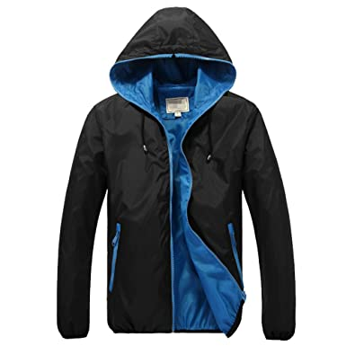 c1e1a187b Amcupider Big Boys Hooded Rain Jacket  Amazon.in  Clothing   Accessories